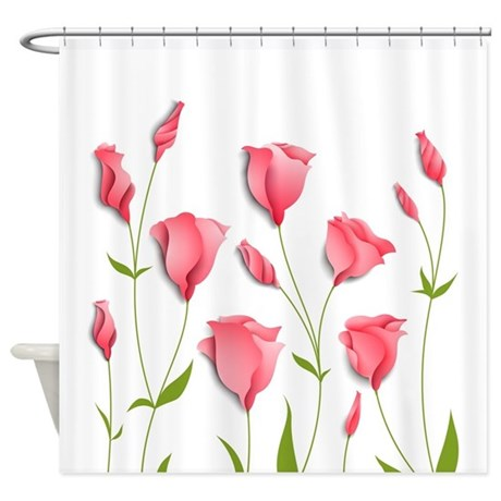 Pretty Flowers Shower Curtain By BestShowerCurtains