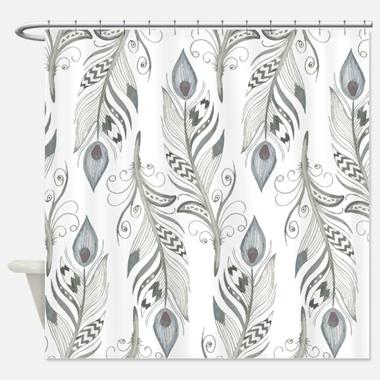 Beautiful Feathers Shower Curtain