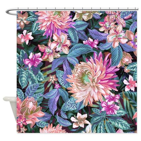 Exotic Floral Shower Curtain By BestShowerCurtains