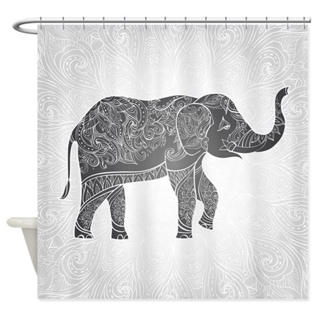 indian elephant shower curtain