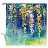 Abstract watercolor Shower Curtains