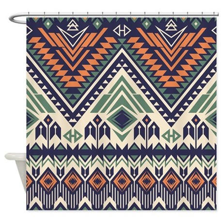 Native Pattern Shower Curtain By BestShowerCurtains