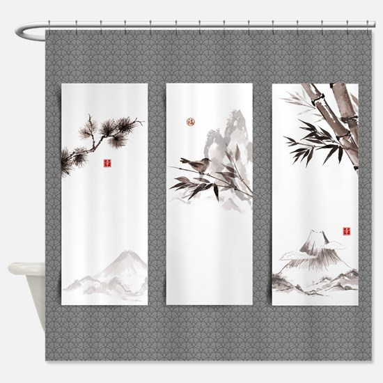 Japanese Banners Shower Curtain