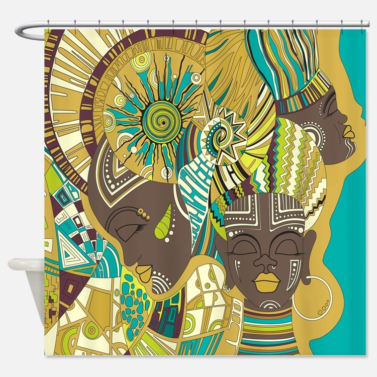 Black Girl Shower Curtains