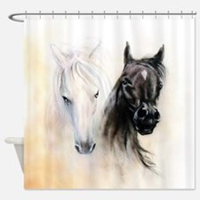 Horses Canvas Painting Shower Curtain