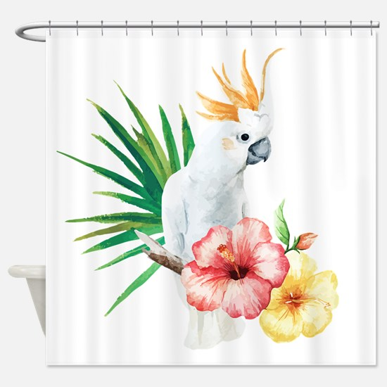 Tropical Cockatoo Shower Curtain