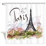 Continents and regions Shower Curtains