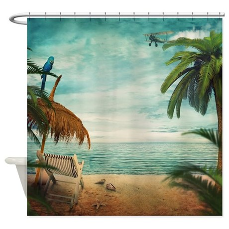 Awesome Vintage Beach Shower Curtain