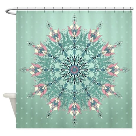 Vintage Floral Shower Curtain By BestShowerCurtains