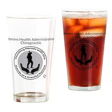 Veterans Affairs Chiropractic Drinking Glass