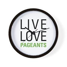 Pageants Wall Clock