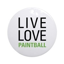Live Love Paintball Ornament (Round)