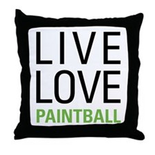 Live Love Paintball Throw Pillow