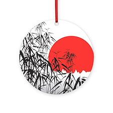 Asian Sunset Ornament (Round)