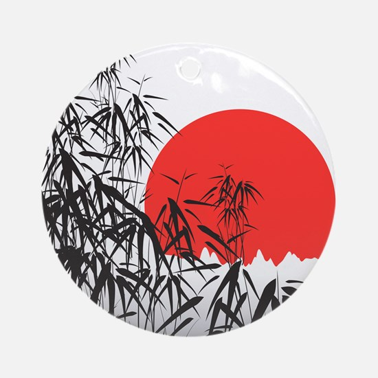 Asian Sunset Ornament (Round)