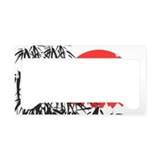 Asian Sunset License Plate Holder