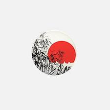 Asian Sunset Mini Button