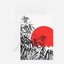 Asian Sunset Greeting Cards