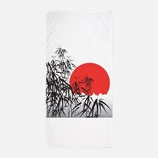 Asian Sunset Beach Towel