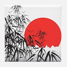 Asian Sunset Tile Coaster