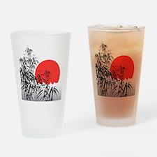 Asian Sunset Drinking Glass