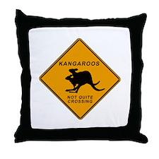Kangaroo Sign Throw Pillow