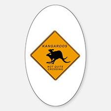 Kangaroo Sign Oval Decal