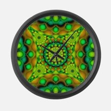 Tribal Mandala 3 Large Wall Clock