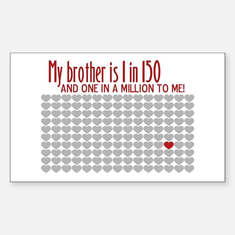 Autism - 1 in 150 Rectangle Decal