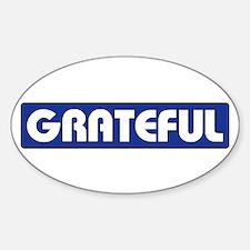 GRATEFUL Sticker (Oval)