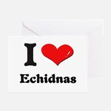 I love echidnas  Greeting Cards (Pk of 10)