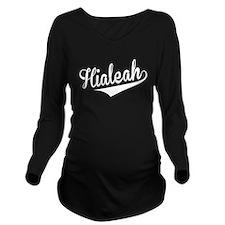Hialeah, Retro, Long Sleeve Maternity T-Shirt
