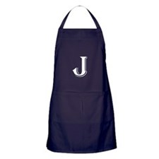 Fancy Letter J Apron (dark)