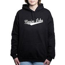Higgins Lake, Retro, Women's Hooded Sweatshirt