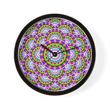 Tribal Mandala 5 Wall Clock