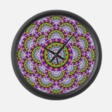 Tribal Mandala 5 Large Wall Clock