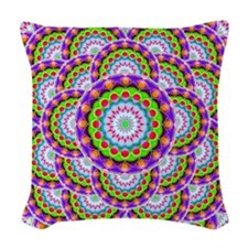 Tribal Mandala 5 Woven Throw Pillow