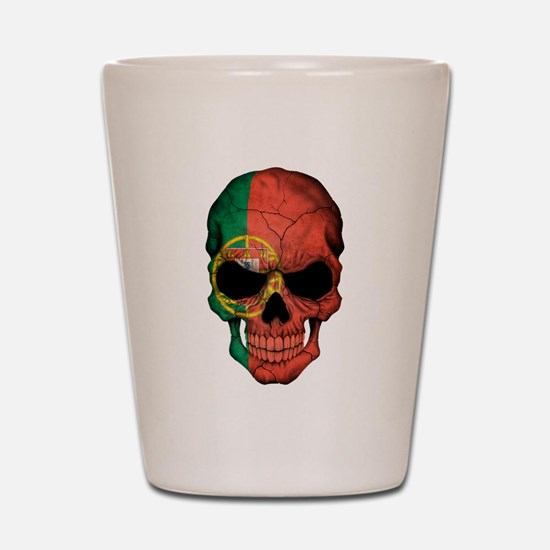 Portuguese Flag Skull Shot Glass