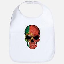 Portuguese Flag Skull Bib