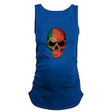 Portuguese Flag Skull Maternity Tank Top