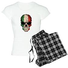 Italian Flag Skull pajamas