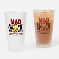 Sickle Cell Anemia MadChick1 Drinking Glass