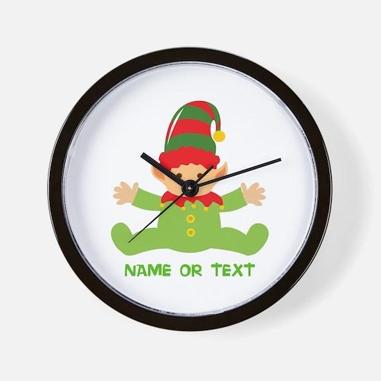 Elf in Training Wall Clock