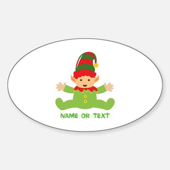 Elf in Training Sticker (Oval)