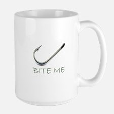 Bite me fish hook Mugs