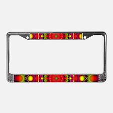 Tribal Mandala 6 License Plate Frame