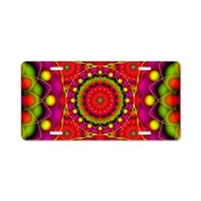 Tribal Mandala 6 Aluminum License Plate