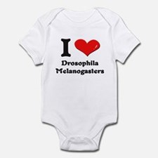 I love drosophila melanogasters  Infant Bodysuit