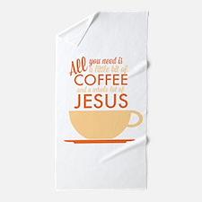 Coffee & Jesus Beach Towel