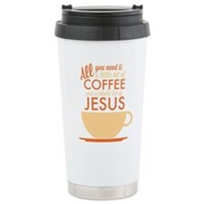 Coffee & Jesus Travel Coffee Mug